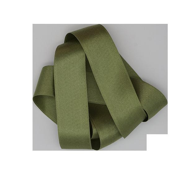 grass green silk satin ribbon product photo