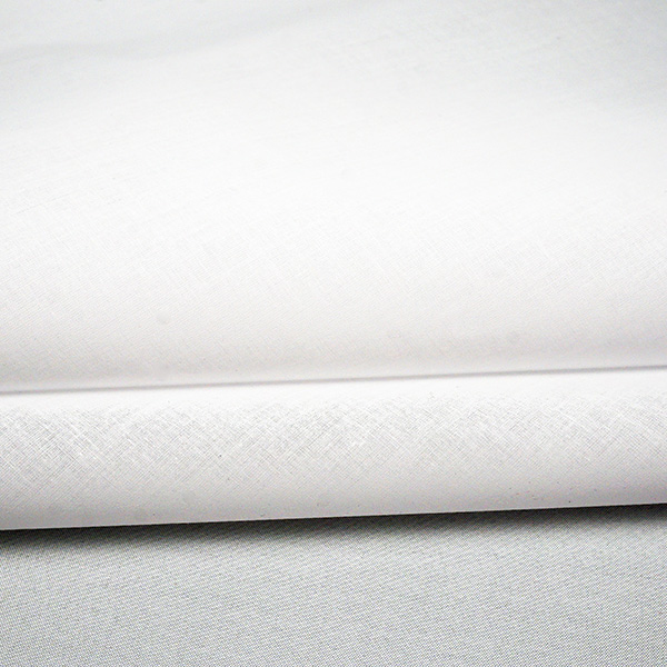 white cotton organdy fabric product photo