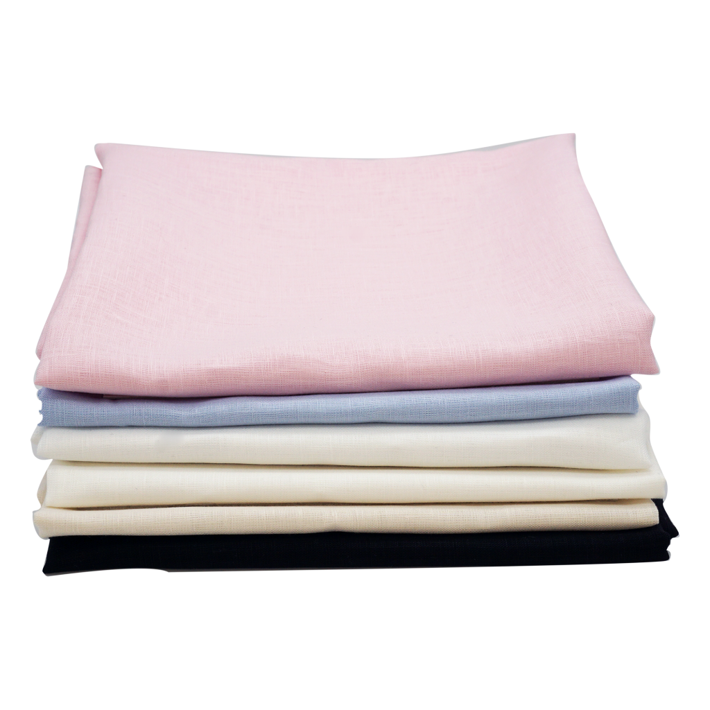 fine linen fabric stack product photo